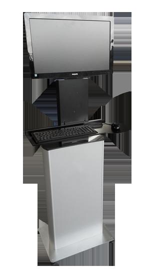 Industrial Computer Cabinet on Workstation Desk Design